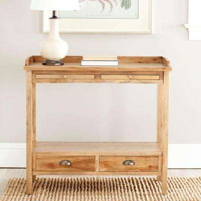 Peter Oak Storage Console Table