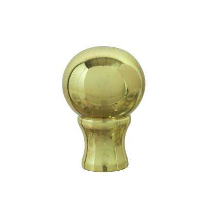 1-3/8 in. Brass Plated Steel Lamp Finial (1-Pack)