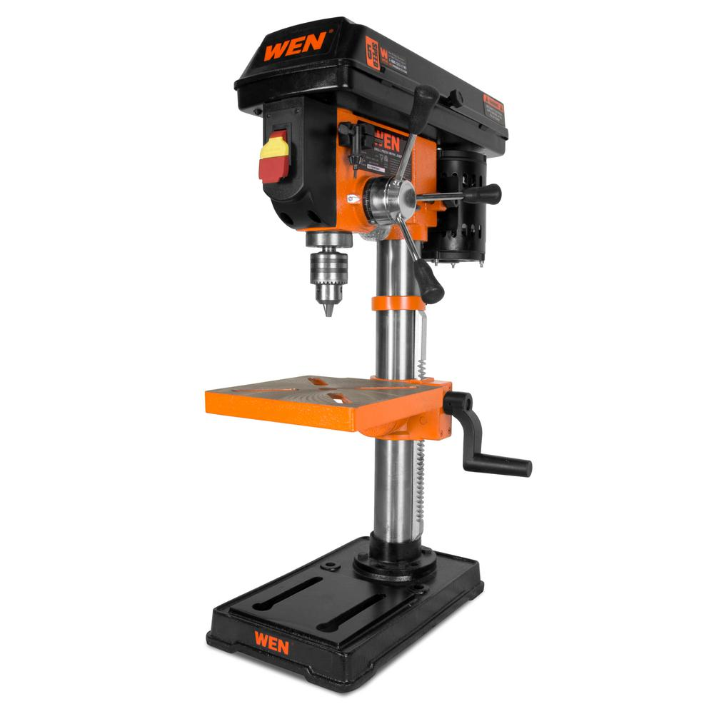 f1e6d7c8528 WEN 10 in. Drill Press with Laser-4210T - The Home Depot