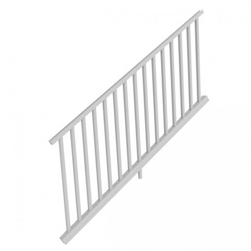 White Resalite Composite 36 in. x 6 ft.Transform Stair Rail Kit