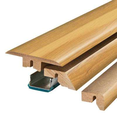 Country Natural Hickory 3/4 in. Thick x 2-1/8 in. Wide x 78-3/4 in. Length Laminate 4-in-1 Molding