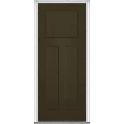32 in. x 80 in. Left-Hand Inswing Craftsman 3-Panel Shaker  sc 1 st  The Home Depot : codel doors canada - pezcame.com