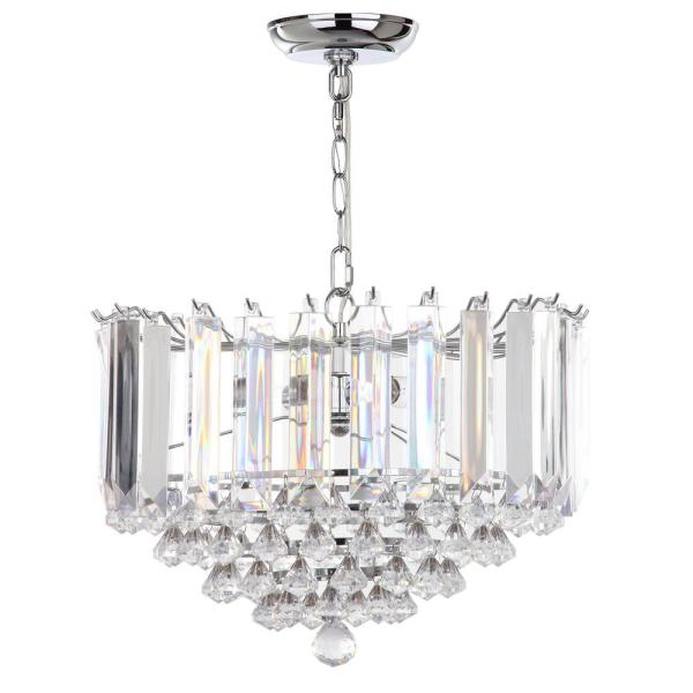 Hampton 2-Light Chrome/Clear Crystal Pendant