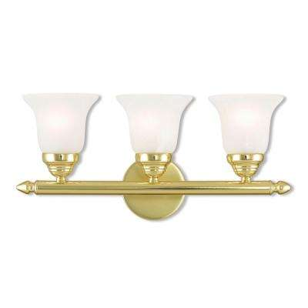 Neptune 3-Light Polished Brass Bath Light