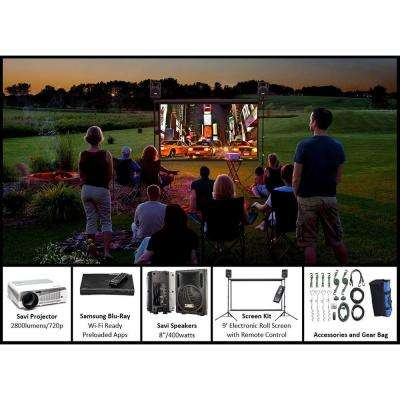 SilverScreen 9 ft. Backyard Theater System