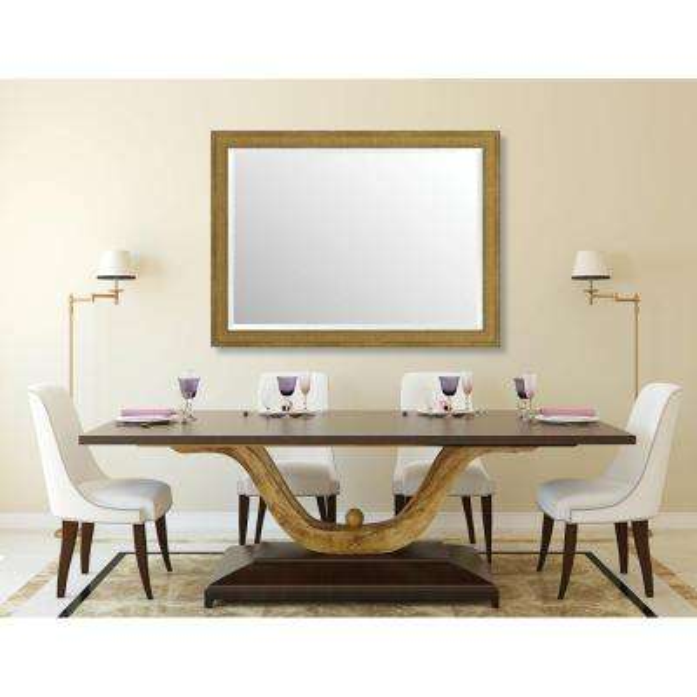 Stratford 35.125 in. x 47.125 in. Transitional Framed Bevel Mirror