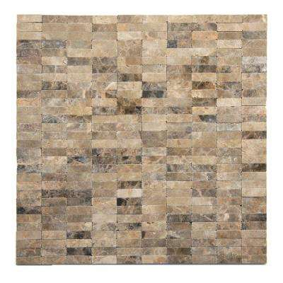 Post Modern Rodin 12 in. x 12 in. x 6.35 mm Marble Mesh-Mounted Mosaic Wall Tile (10 sq. ft. / case)