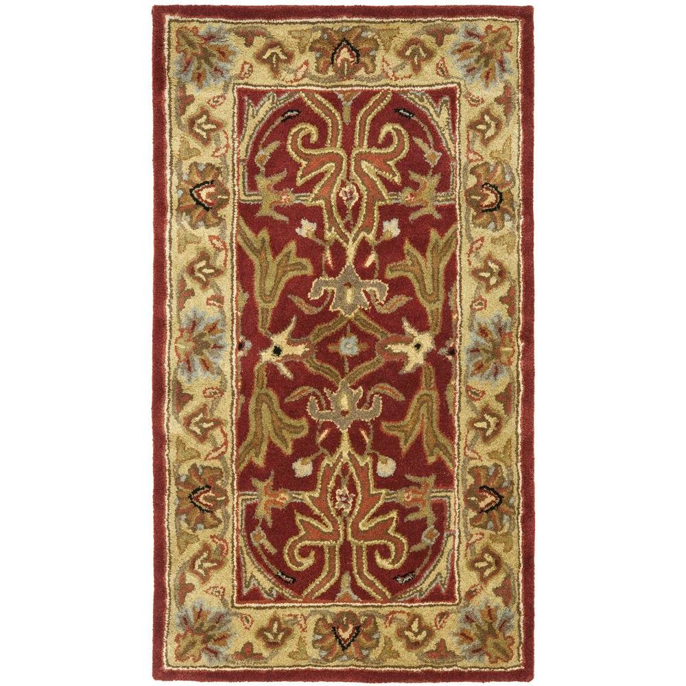 Safavieh Heritage Red Gold 2 Ft X 4 Ft Area Rug Hg644b 24 The Home Depot