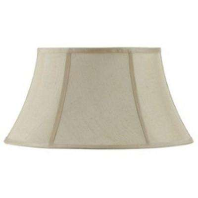 8.25 in. Cream Fabric Vertical Piped Shade