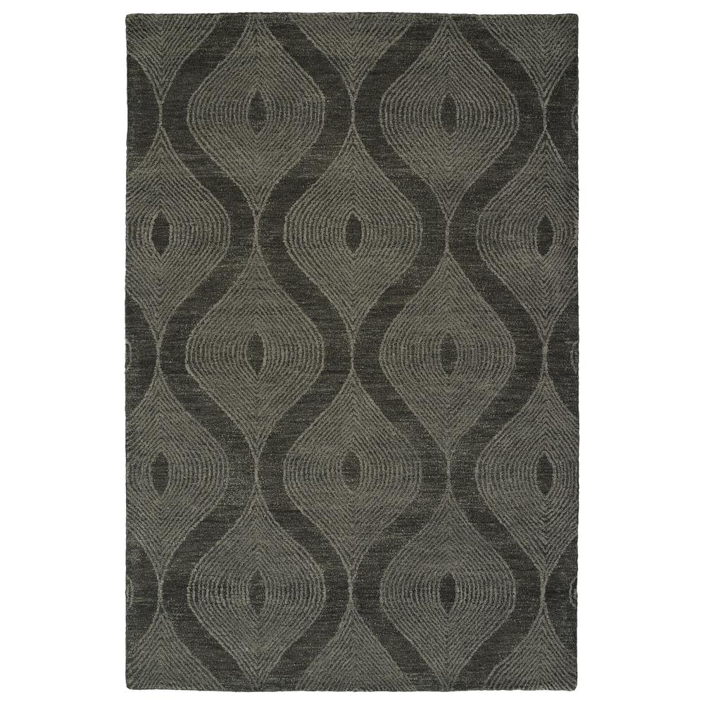 Textura Charcoal 9 ft. x 12 ft. Area Rug