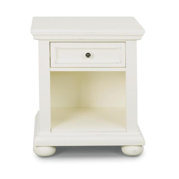 Home Styles Dover 1-Drawer White Nightstand 5427-42