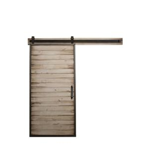 Rustica Hardware 36 inch x 84 inch Mountain Modern White Wash Wood Barn Door... by Rustica Hardware