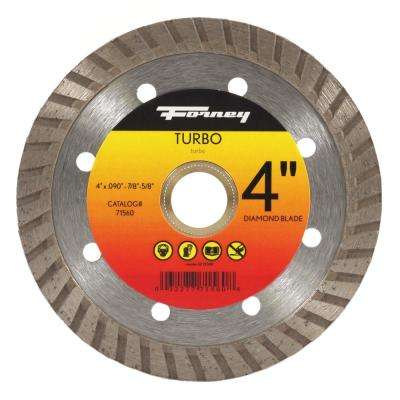 4 in. Turbo Continuous Rim Diamond Cut-Off Blade