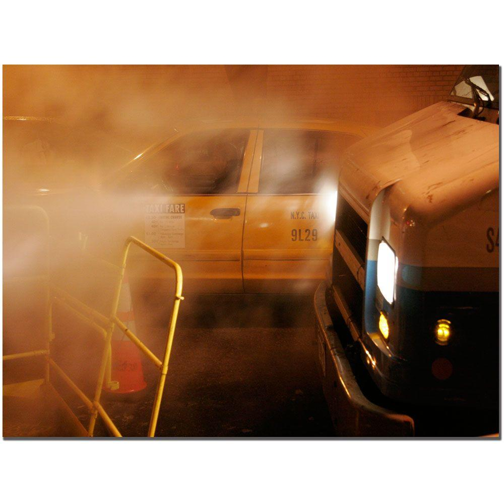 14 in. x 19 in. Taxi Canvas Art
