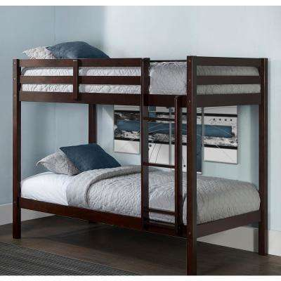 Caspian Chocolate Twin over Twin Bunk Bed
