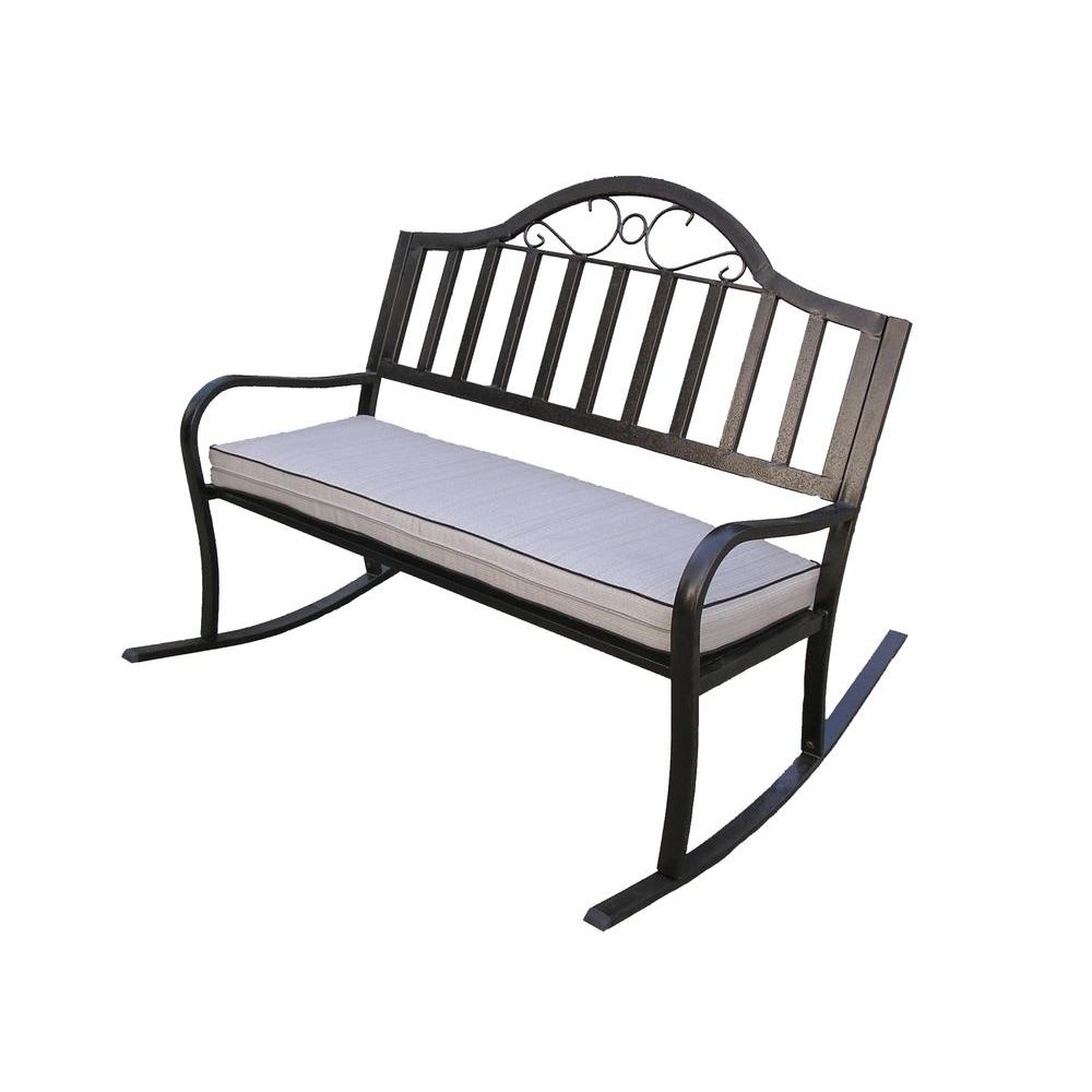 Oakland Rochester Rocking Patio Bench with Cushion