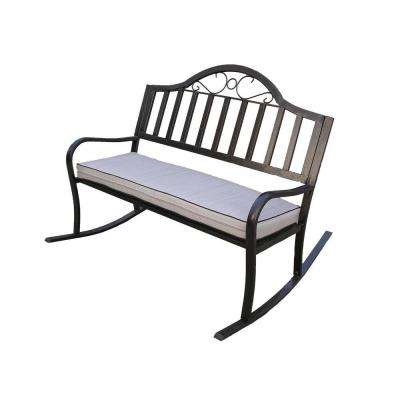 Rochester Rocking Patio Bench with Cushion