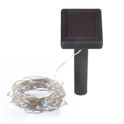 Hunnykome Outdoor 36 ft. Solar Micro LED String Light with 200 Cool White LEDs