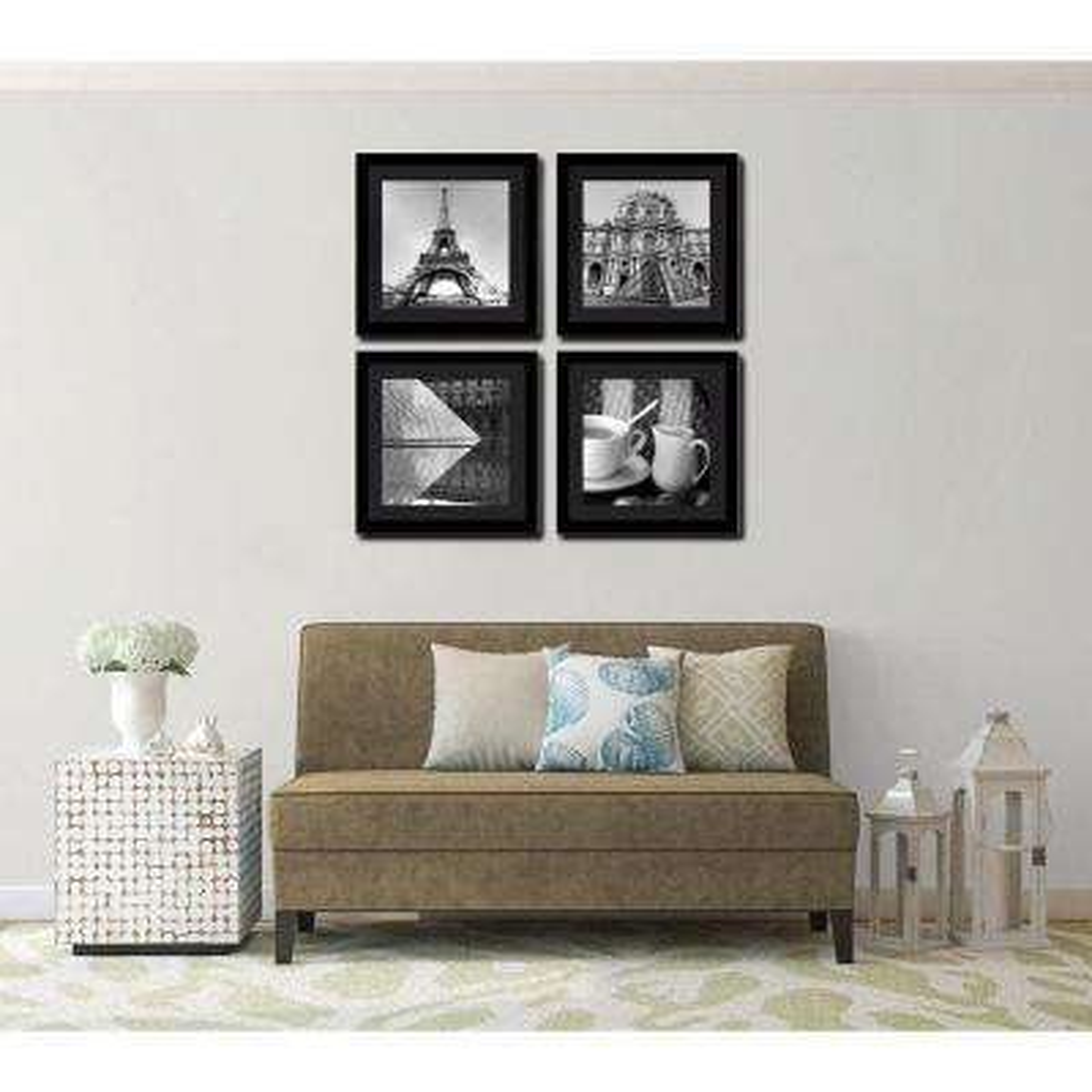 "Four 10 in. x 10 in. ""Paris Magic"" by Neeva Kedem Framed Printed Wall Art"