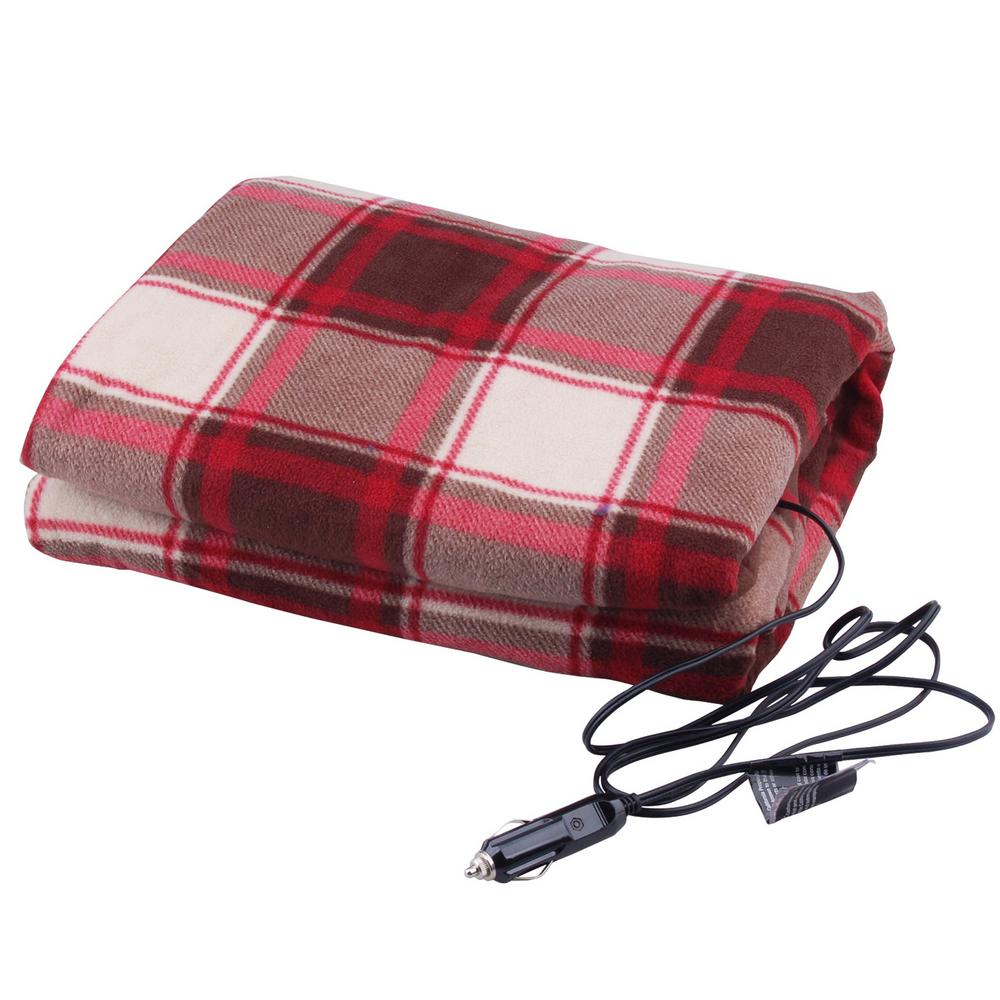 Ultra Performance 12 Volt Heated Travel Blanket In Red