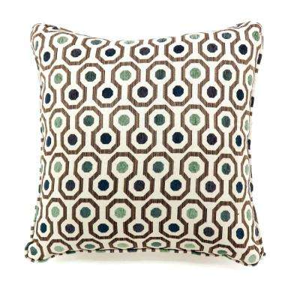 Dott 18 in. Grey Contemporary Standards Throw Pillow