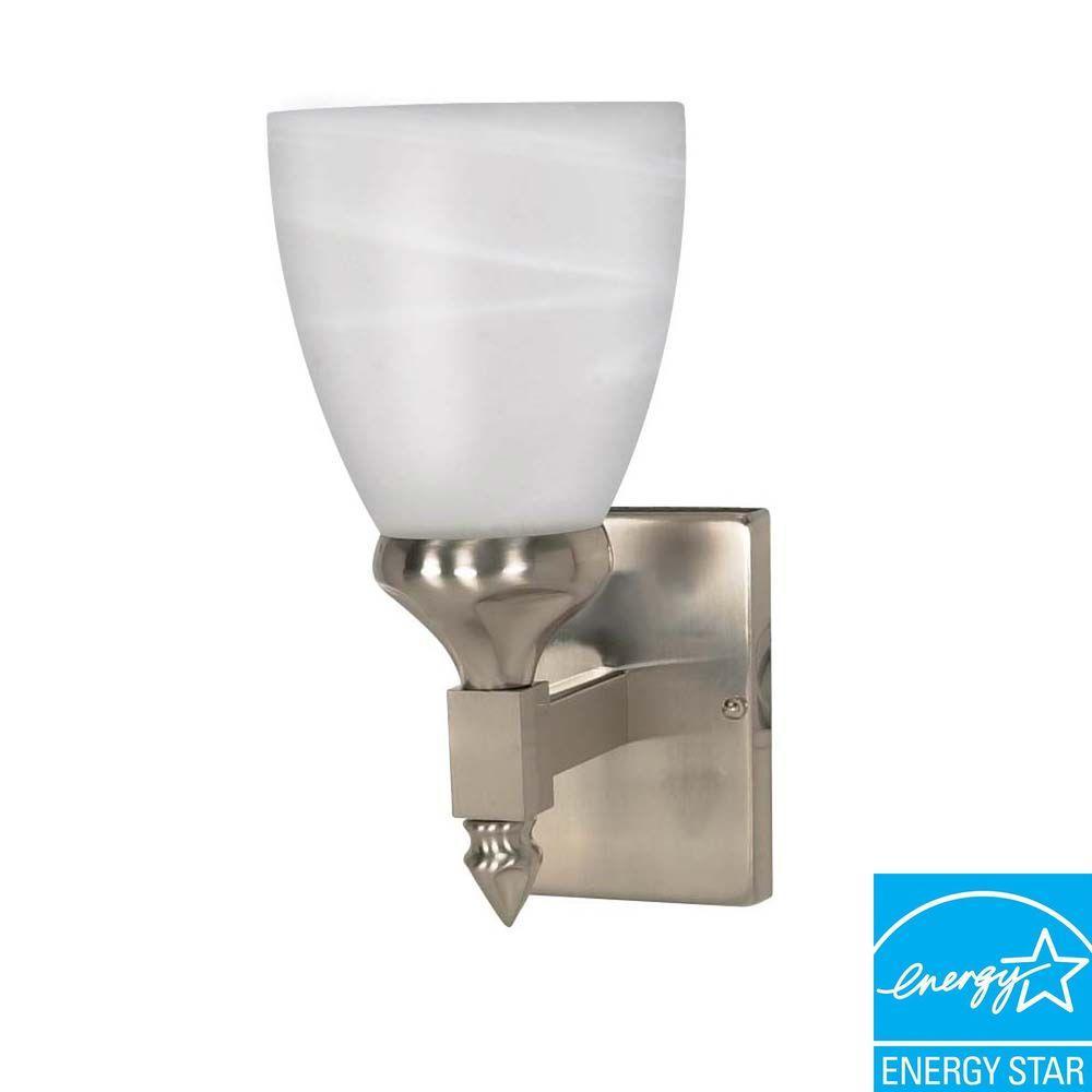 Phthia 1-Light Brushed Nickel Bath Vanity Light