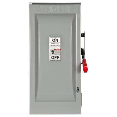 Heavy Duty 100 Amp 240-Volt 3-Pole Outdoor Fusible Safety Switch with Neutral