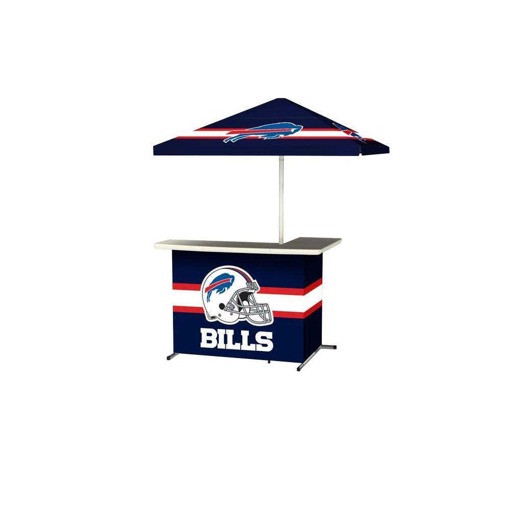 Buffalo Bills All-Weather L-Shaped Patio Bar with 6 ft. Umbrella