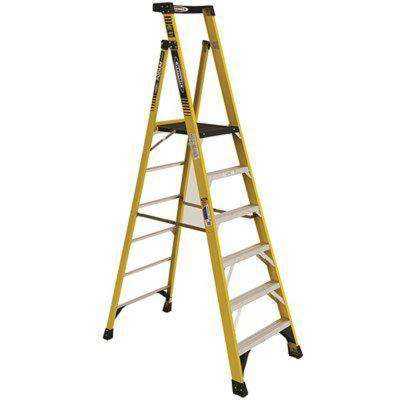 8 ft. Fiberglass Podium Ladder with 12 ft. Reach and 375 lbs. Load Capacity Type IAA Duty Rating
