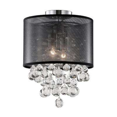 Warrenville 2-Light Chrome Semi-Flushmount Light