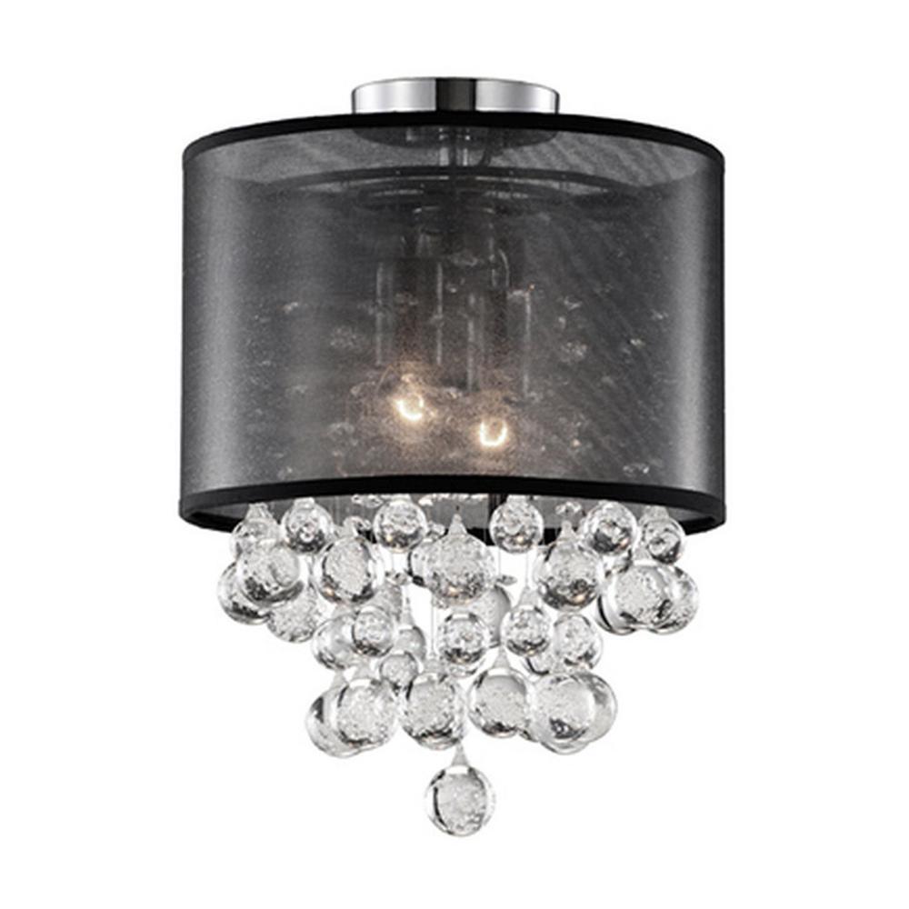 Warrenville 2-Light Chrome Semi-Flushmount Light