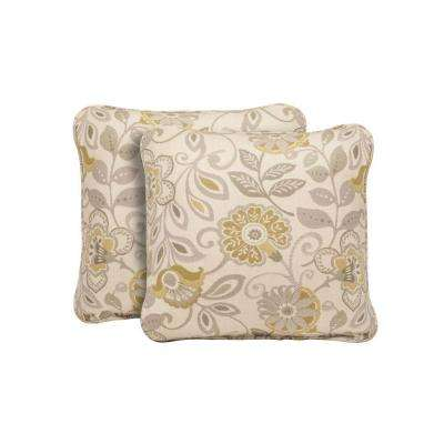 Highland Aphrodite Spring Outdoor Throw Pillow (2-Pack)
