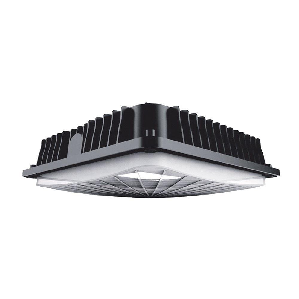 150-Watt Equivalent Integrated LED Bronze Water Resistant IP65 Canopy Light