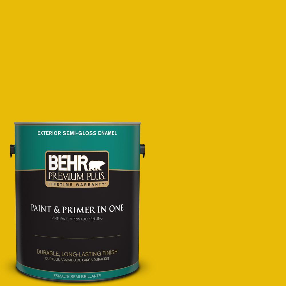 1-gal. #390B-7 Lemon Lime Semi-Gloss Enamel Exterior Paint
