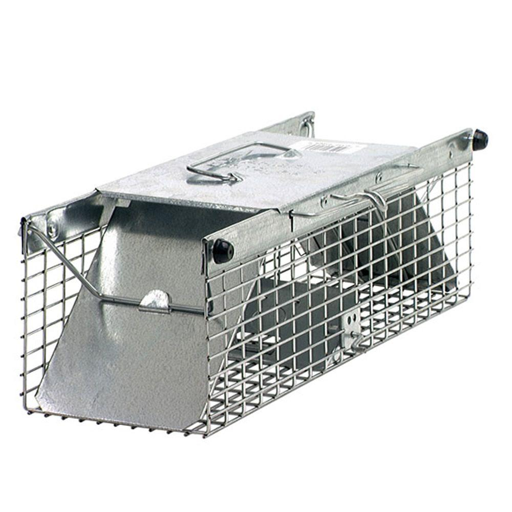 Outdoor Extra Large Animal Cage Trap Single Door Trigger Rod Rust Resistant Wire