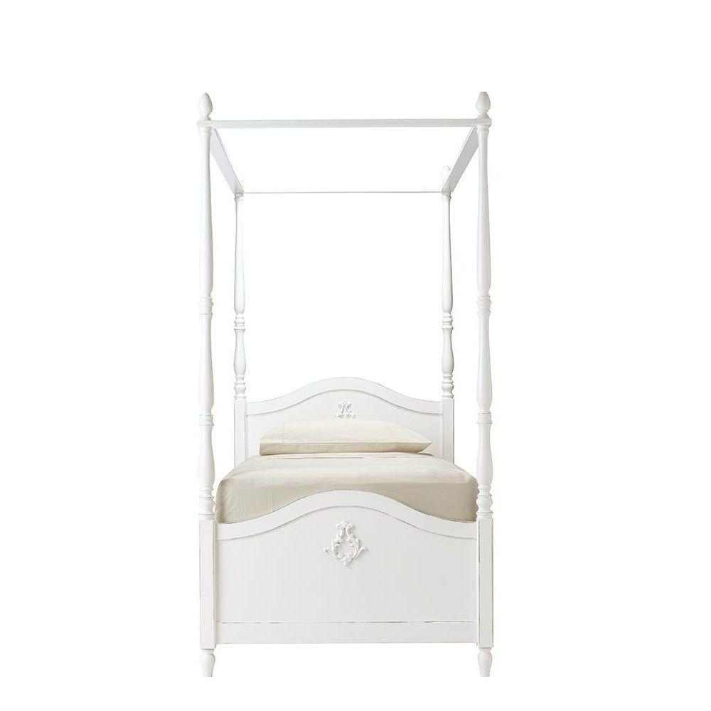 Carmela Kids Gustaviano Wash Twin Size Canopy Bed  sc 1 st  Home Depot : canopy beds twin - memphite.com