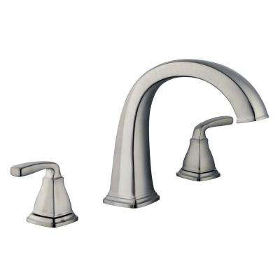 Mason 2-Handle Deck-Mount Roman Tub Faucet in Brushed Nickel