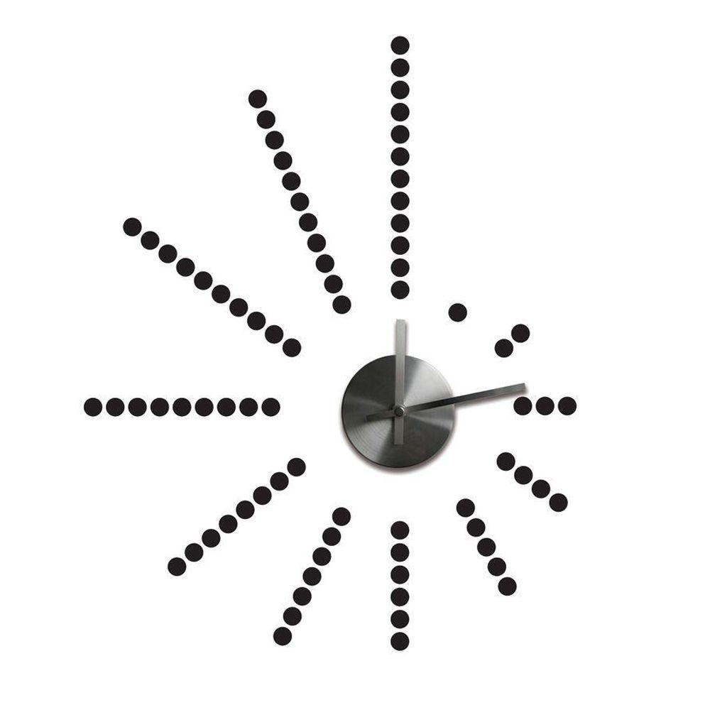null 3.75 in. x 1.5 in. Morse Code Clock Peel and Stick Wall Decals