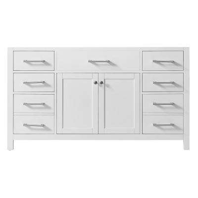 Colette 60 in. W x 22 in. D x 34.2 in. H Bath Vanity Cabinet Only in White