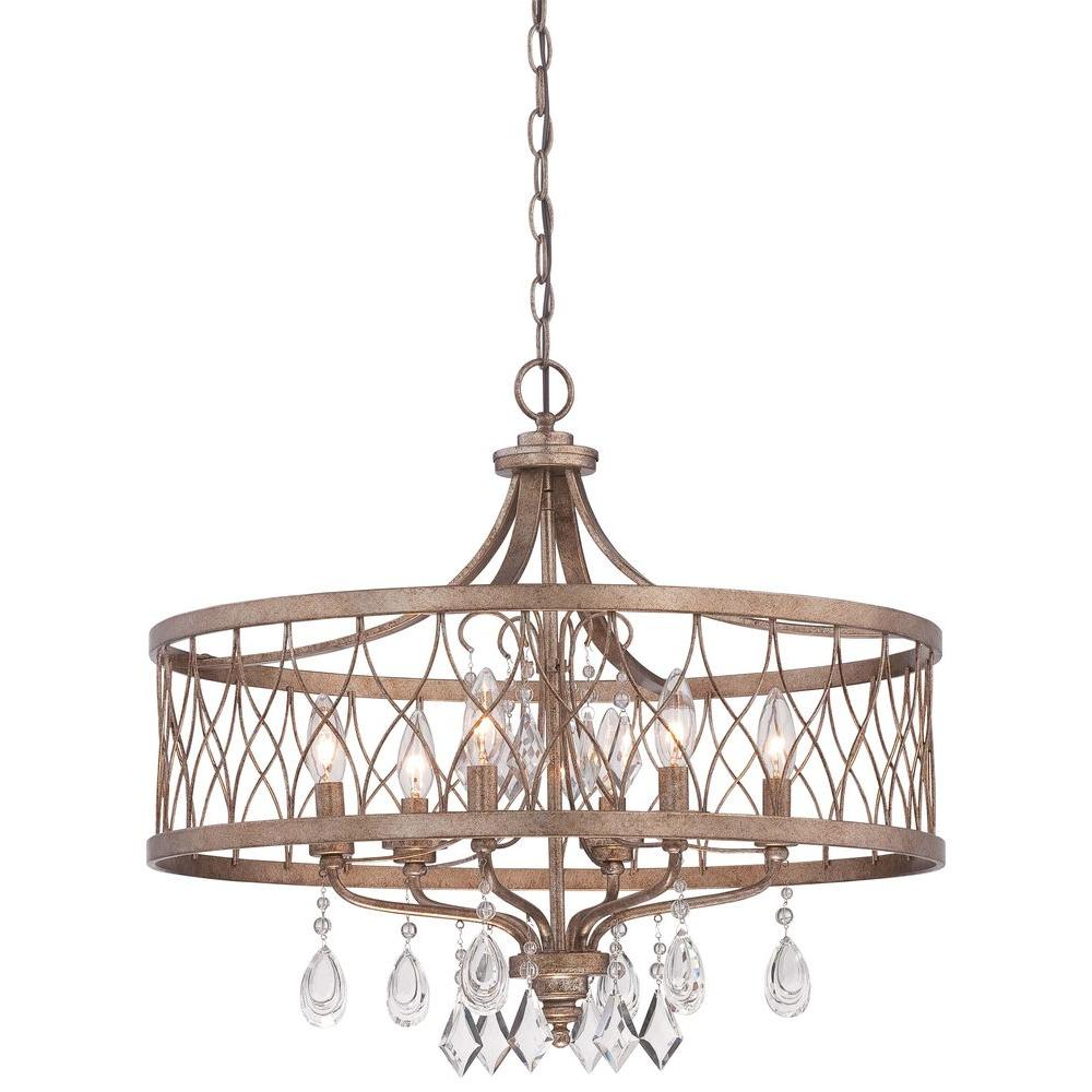 Minka Lavery West Liberty 6 Light Olympus Gold Chandelier