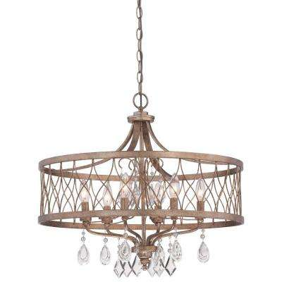 west liberty 6light olympus gold chandelier