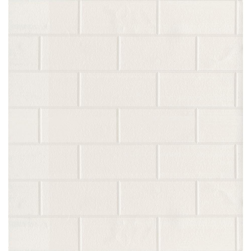 56.4 sq. ft. Spackle Paintable Peelable Wallpaper
