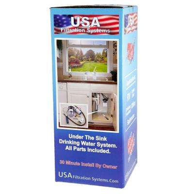 Under the Sink Mounted Drinking Water Filtration System