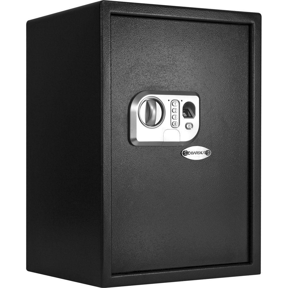 BARSKA 1.44 cu. ft. Large Safe with Biometric Keypad, Black Matte