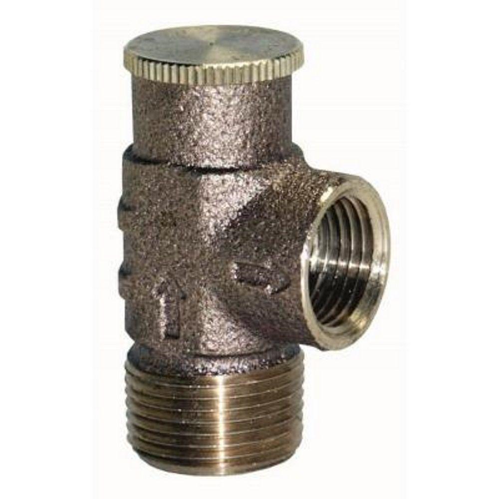 everbilt 3 4 in brass relief valve ebrv75nl the home depot. Black Bedroom Furniture Sets. Home Design Ideas