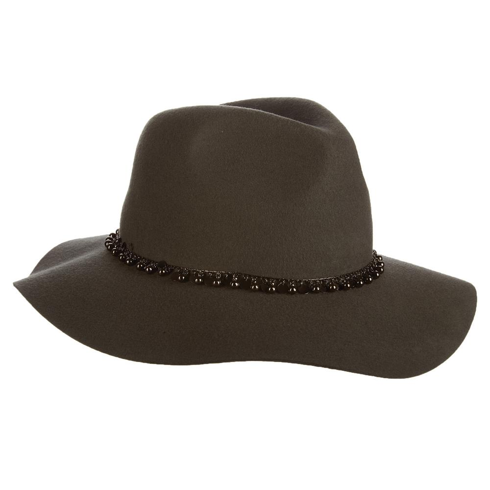 Scala Wool Felt Rancher with Metal-LF227-GREY - The Home Depot 321658406a6b