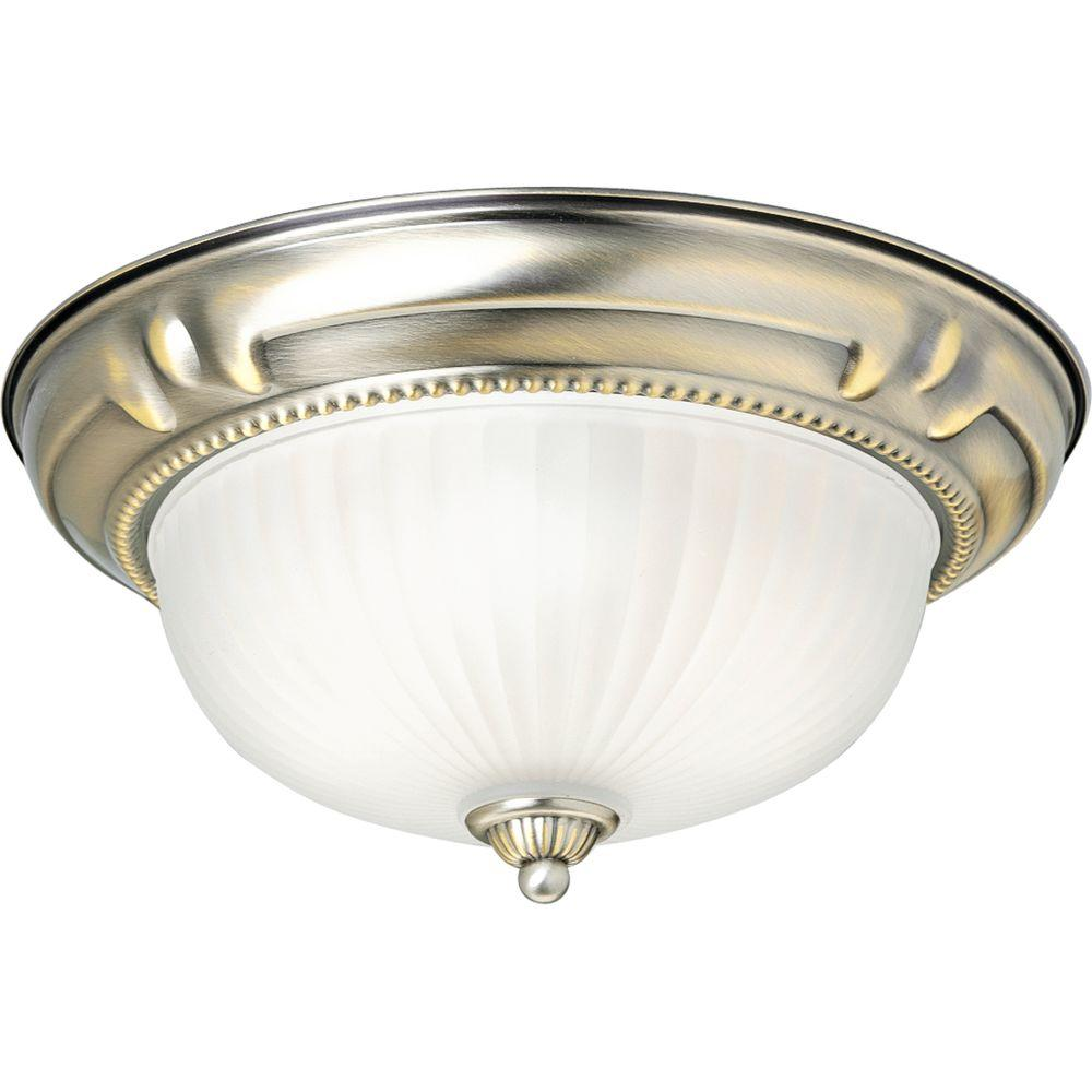Progress Lighting Huntington Collection Colonial Silver 2-light Flushmount-DISCONTINUED
