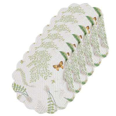 Althea Round Green Placemat (Set of 6)