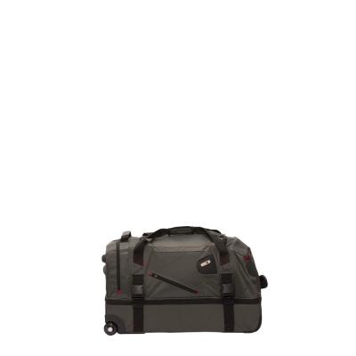 Tour Manager Deluxe 30 in. Grey Rolling Duffel Bag with Retractable Pull Handle and Split Level Storage