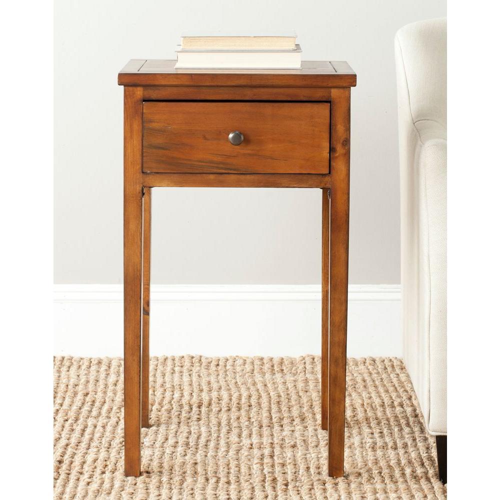 Safavieh Abel Filbert Brown Storage End Table by